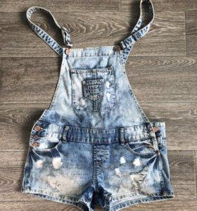 Джинсовый комбинезон (шорты), размер 42-44