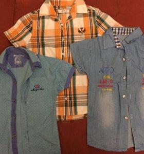 Рубашки для мальчика по 150₽. рост 130
