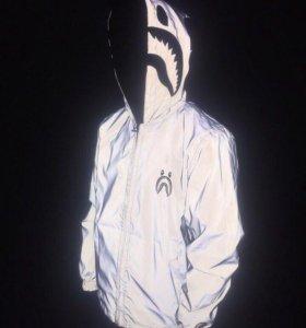 Куртка Bape рефлективная оригинал двухсторонняя