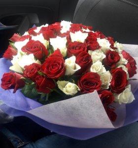 101 роза. Розы. Цветы
