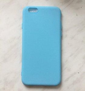 Голубой чехол на iPhone 6/6s