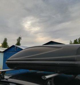 Автобокс 450 чёрного цвета, бокс на крышу
