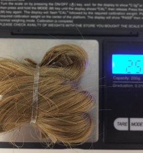 Волосы Русые в рыжину,50см,славянка,36капсул,Люкс