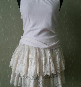 Костюм тройка: юбка, пиджак и кардиган