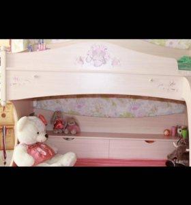 Детская кровать Арт Николь цена за кровать )и шкаф