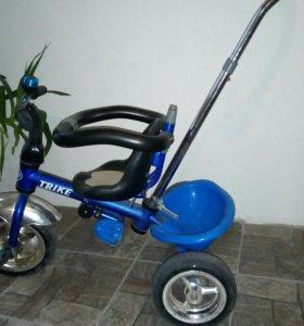 Трехколесный велосипед+трехколесный самокат