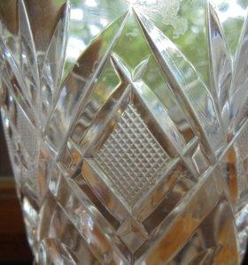 вазочки богемского хрусталя