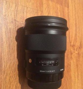 Объектив Sigma AF 50mm 1.4 DG HSM Art Canon EF