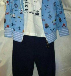 Новый детский костюм, тройка, хлопок