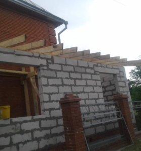 Строительство домов,бань,хоз построек.