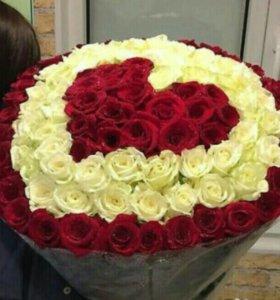 51 роза, 101 роза,  Доставка. Самые свежие розы
