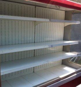 Пристенная витрина Свитязь 190 см. со шторкой 3 шт