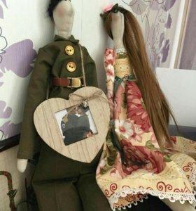Текстильная интерьерная кукла по вашему фото
