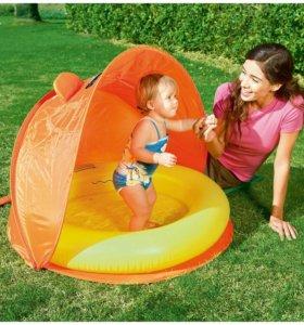 Детский надувной бассейн со складным навесом, Best