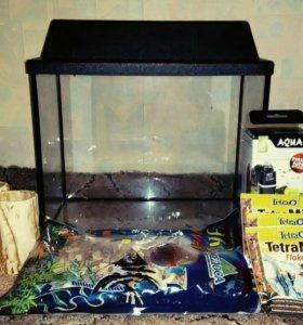 Новый аквариум + полный комплект