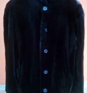 Норковая шуба HQ + норковая шапка с лисьим хвостом