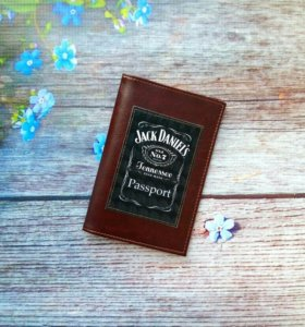 "Обложка для паспорта ""Jack Daniels"""