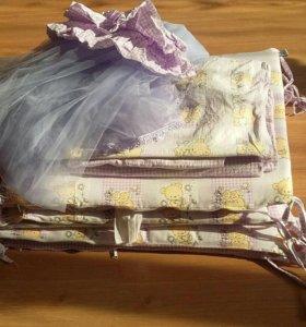 Комплект в кроватку + матрасик
