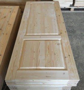 Деревянные двери из массива под ключ