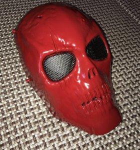 Маска красный череп