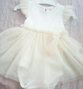 Нарядное боди-платье на девочку