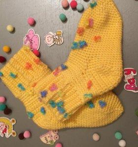 Вязаные носочки для девочки 11-12 см