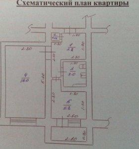 Квартира, 1 комната, 29.1 м²