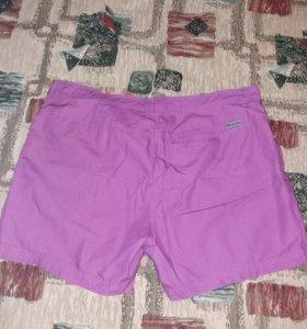 Легкие летние шорты-юбка 54 размер
