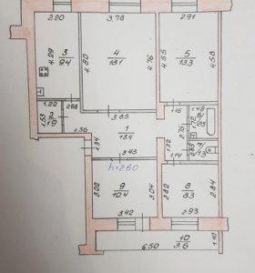 Квартира, 4 комнаты, 82.2 м²