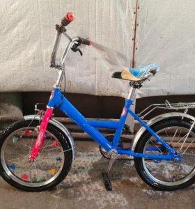 """Детский велосипед """"Тактик""""с доб. колесами."""