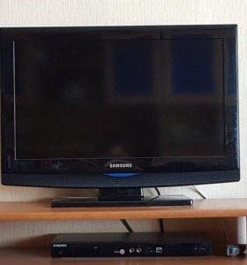 Телевизор Samsung и DVD проигрыватель Samsung