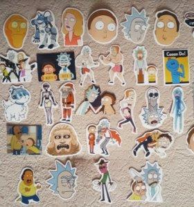 """Наклейки - стикеры по мультсериалу """"Рик и Морти"""""""