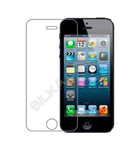 Глянцевое каленное стекло для iPhone 5s