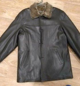 Кожаная Куртка-дубленка, совершенно новая.