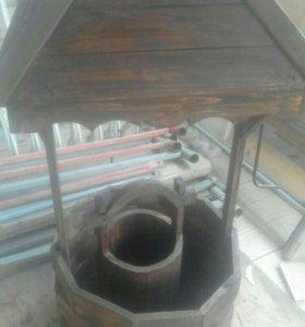 Декоративный колодец для оформления дачи