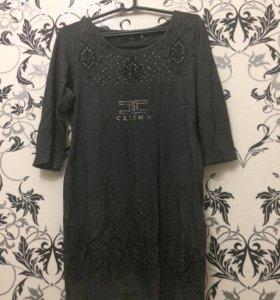 Платье темно-серое 44 размер