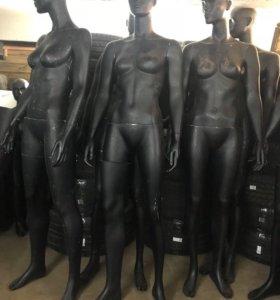 Манекены женские (чёрный матовый)