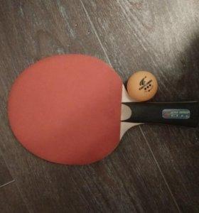 Настольнвй теннис. Ракетка с мячиком.