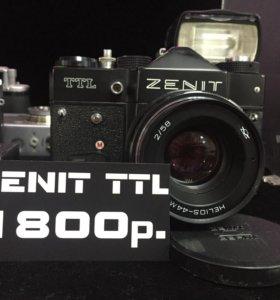 Фотоаппарат плёночный, зеркальный. Zenit TTL