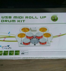 Usb midi roll up drum kit