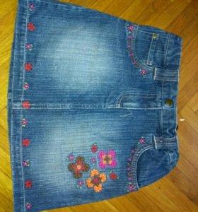 Юбки джинсовые р. 146