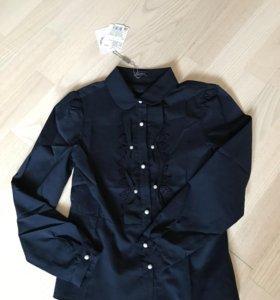 Блузка школьная новая р.128-134