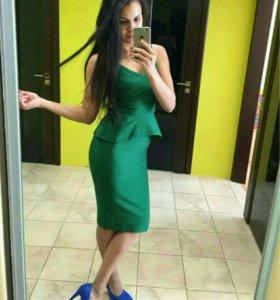модное облегающее Бандажное платье