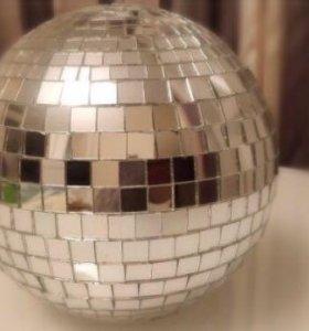 Зеркальный шар, дискобол диаметр 15см