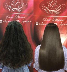 Восстановление и выпрямление волос