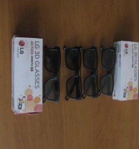 Очки 3Д для телевизора 2 пары