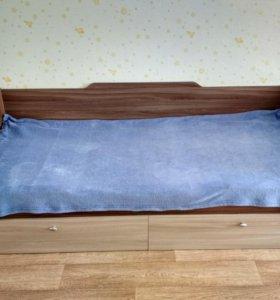 Детская кровать Омега с ящиками, 90 см на 2 м