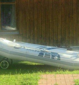 Лодка из армированного пвх двух местная дно надувн