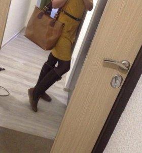Платье замшевое