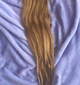 Волосы на заколках,натуральные(новые)!Срочно!